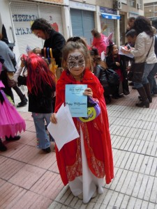 Maria Boque from Kids1, Winner of the Best Costume.