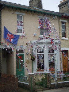 Some English people were quite excited about the Queen's jubilee and the London Olympics!
