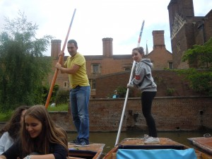 Tim took us punting on the River Cam.