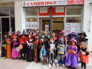 We had witches, vampires, skeletons and even batman!!! It was very hard to choose a winner.